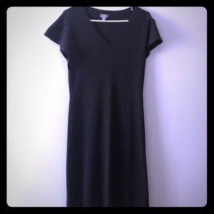 J Jill Italian Merino Wool Brown Midi Dress